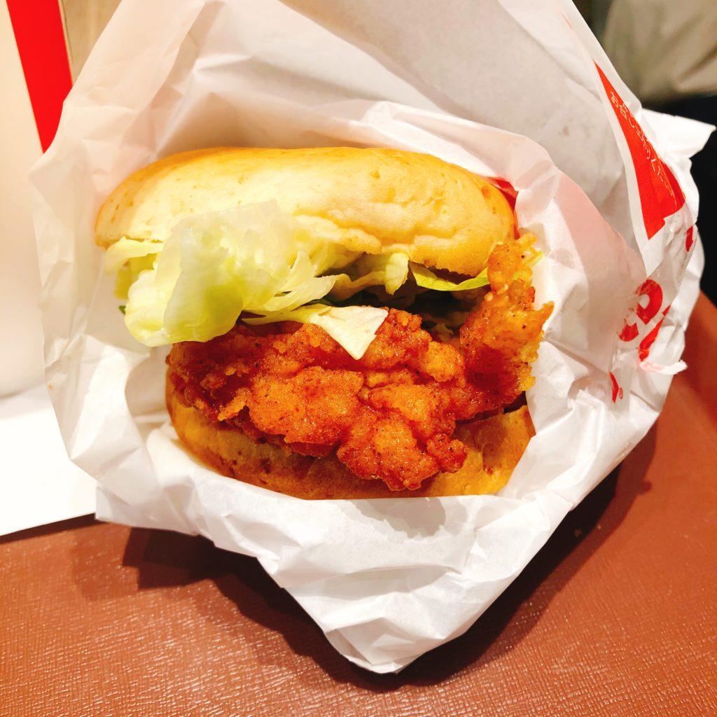 KFCチキンフィレサンドランチ!